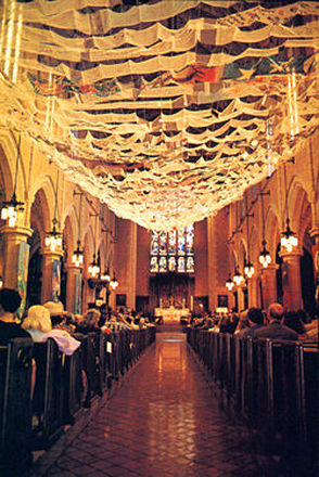 Closer view of Prayers of the People. St. Mark's Episcopal Cathedral, Minneapolis, MN. Copyright ©Nancy Chinn, 1993