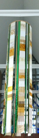 Close up of central 14' banner. © Pamela T. Hardiman, 2014, St Mary Magdalen Church, of Kentwood, MI.